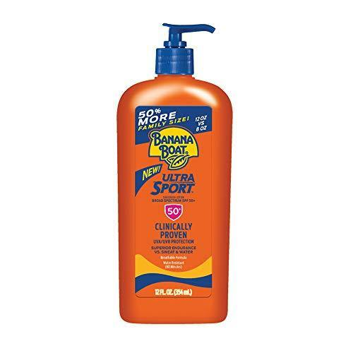Banana Boat Ultra Sport Reef Friendly Sunscreen Lotion, Broad Spectrum SPF 50, 12 Ounces