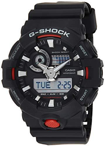 Casio G Shock Quartz Watch with Resin Strap, Black, 25.8 (Model: GA700-1ACR) - PRTYA