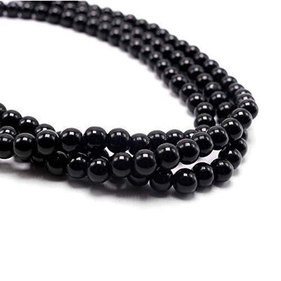 "So Pretty Black Long Pearl Necklace for Women Layered Faux Pearl Beads Strand Necklace Costume Jewelry, 69"",Diameter Pearl 8MM"