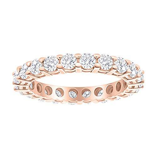 1 Carat (ctw) 14K Rose Gold Round Diamond Ladies Eternity Wedding Anniversary Stackable Ring Band Value Collection