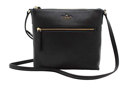 Kate Spade New York Jackson Top Zip Crossbody Leather Purse in Black