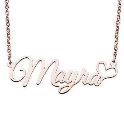 JewelryJo Custom Your Name Necklace Personalized Gift Pendant for Girls Women Initial Pendant