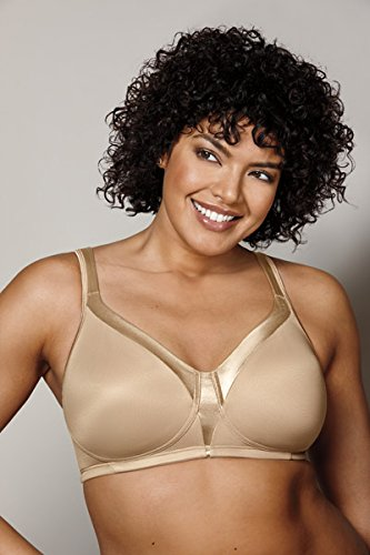 Playtex Women's 18 Hour Sensational Sleek Wirefree Full Coverage Bra #4803, White, 38C
