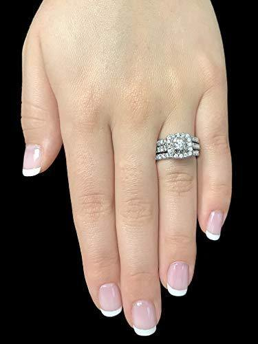 2 Carat Diamond Engagement Ring - IGI Certified 14 Karat White Gold Diamond Ring for Women Diamond Engagement Ring by Beverly Hills Jewelers (Size 7.5)