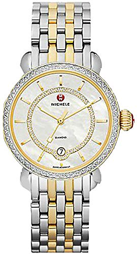 Michele CSX Elegance Yellow Gold & Stainless with Diamonds Ladies Watch MWW03T000042