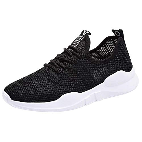 Willow S Women Sneakers Casual mesh Breathable lace-up Sport Print with Non-Slip Lightweight Comfortable Sneakers Flats Black
