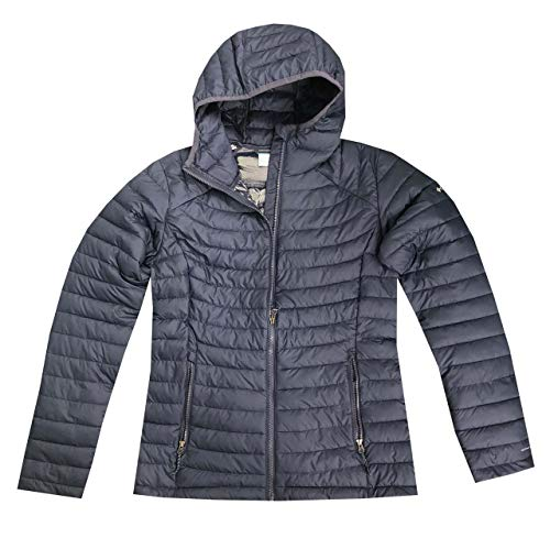 Columbia Women's White Out ll Omni Heat Hooded Jacket Puffer (XS, Navy) - PRTYA