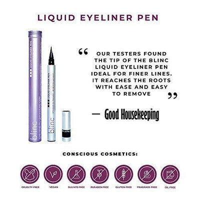blinc Liquid Eyeliner Pen, Soft Black Sheen