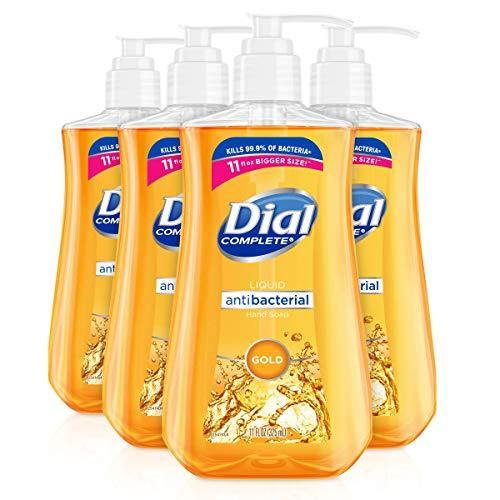Dial Antibacterial liquid hand soap, gold, 11 ounce (Pack of 4), 4 Count