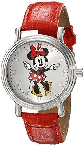Disney Women's W001877 Minnie Mouse Analog Display Analog Quartz Red Watch - PRTYA