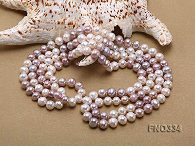 JYX AA + Pearl Long Necklace Classical 8-9mm Multi Color Natural Freshwater Cultured Pearl Sweater Necklace 47""