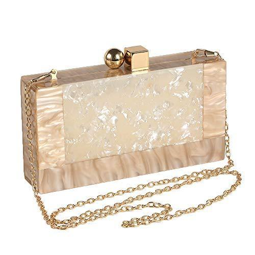 Menurra Women Acrylic Evening Clutch bag Glitter Marble Purse Handbag for Wedding Cocktail Party Prom