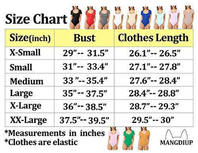 MANGDIUP Women's Scoop Neck T Shirts Basic Bodysuits Jumpsuits(White, S)