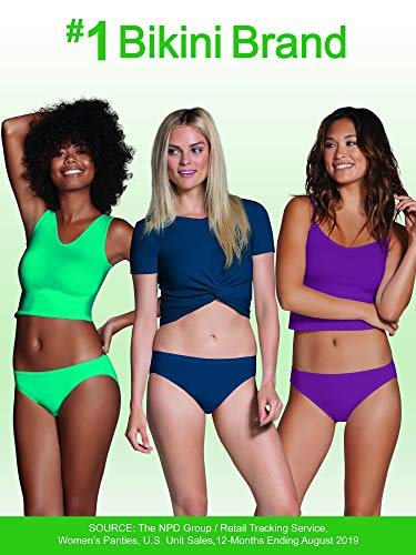 Fruit of the Loom Women's Tag Free Cotton Bikini Panties, 10 Pack - Assorted Colors, 6