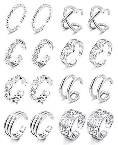 ORAZIO 8 Pairs Ear Cuff Earrings Helix Cartilage Lip Clip On Wrap Earrings Non-piercing Fake Nose Ring Adjustable Fashion Jewelry for Women