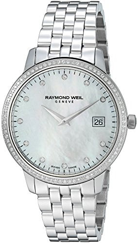 Raymond Weil Women's Toccata Quartz Watch with Stainless-Steel Strap, Silver, 20 (Model: 5388-STS-97081)