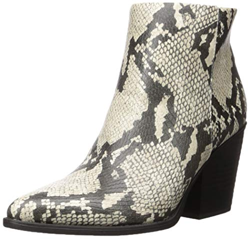 SOUL Naturalizer Women's Mikey Ankle Boot, Ivory Snake, 8.5 M US