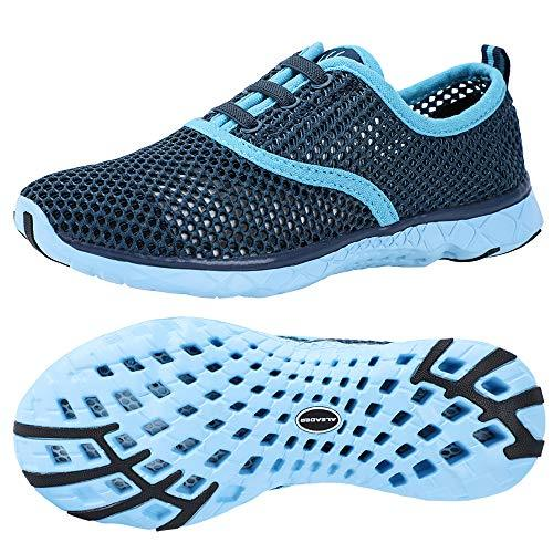 ALEADER Women's Quick Drying Aqua Water Shoes Blue 9.5 B(M) US - PRTYA