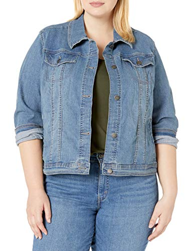 Riders by Lee Indigo Women's Plus Size Denim Jacket, Light Wash, 3X