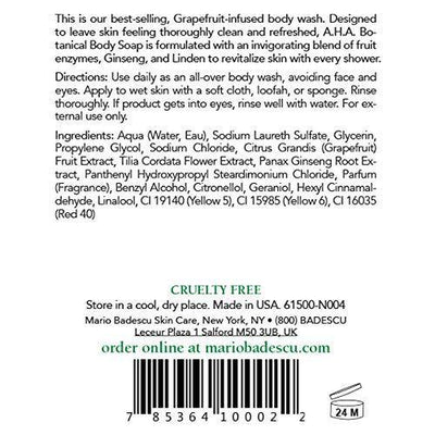 Mario Badescu A.H.A. Botanical Body Soap, 16 Fl Oz