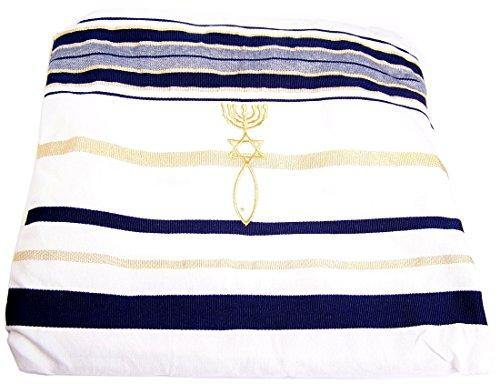 New Covenant Prayer Shawl, English/Hebrew & Bag 72 X 22 (Israel) Holy Land
