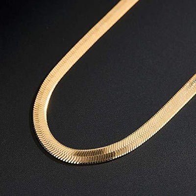 Dainty Snake Chain Choker Necklace 18K Gold Snake Calvice Chain Necklaces for Women Girl Gifts