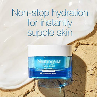 Neutrogena Hydro Boost Hyaluronic Acid Hydrating Gel-Cream Face Moisturizer to Hydrate & Smooth Extra-Dry Skin, Oil-Free, Fragrance-Free, Non-Comedogenic & Dye-Free Face Lotion, 1.7 oz
