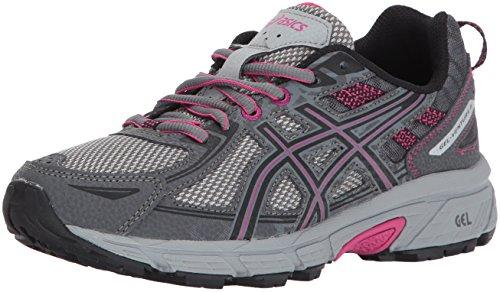 ASICS Women's Gel-Venture 6 Running-Shoes,Carbon/Black/Pink Peacock,8.5 Medium US - PRTYA