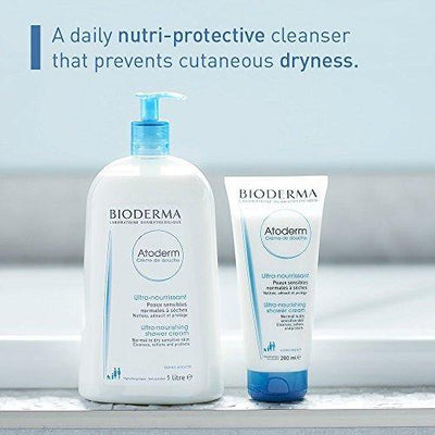 Bioderma - Atoderm - Shower Cream - Cleansing Body Wash - for Family with Normal to Dry Sensitive Skin