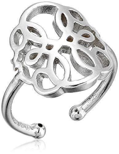 Alex and Ani Women's Passth of Life Statement Adjustable Ring, Sterling Silver