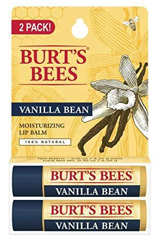 Burt's Bees 100% Natural Moisturizing Lip Balm, Vanilla Bean, 2 Count