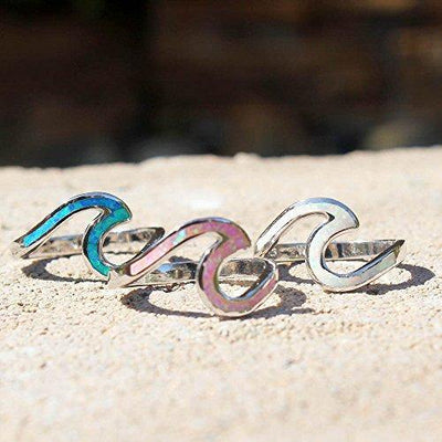 Oxford Diamond Co Sterling Silver Cute Wave Design .925 Sterling Silver Ring Sizes 2-12 (12)
