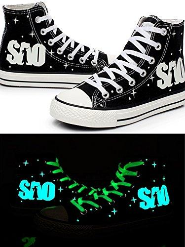 Telacos SAO Sword Art Online Cosplay Shoes Canvas Shoes Sneakers Luminous - PRTYA