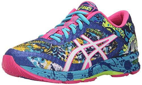 ASICS Women's Gel-Noosa Tri 11 Running Shoe, Asics Blue/White/Hot Pink, 8.5 M US - PRTYA