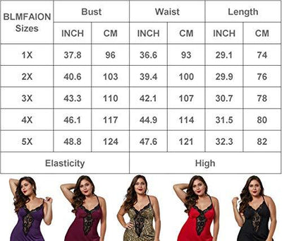 BLMFAION Women Sexy Plus Size Satin Chemise Nightdress Babydoll Silky Lingerie Dress with Lace Trim (Purple Venecia,1X-Large(US 14-16)) - PRTYA