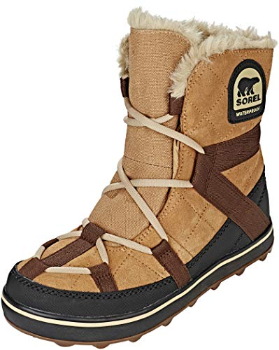 Sorel Women's Glacy Explorer Shortie Snow Boot, Elk, 11 M US
