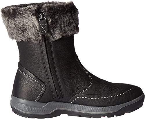 ECCO Women's Trace Boot-W Snow, Black/Dark Shadow, 37 EU/6-6.5 M US