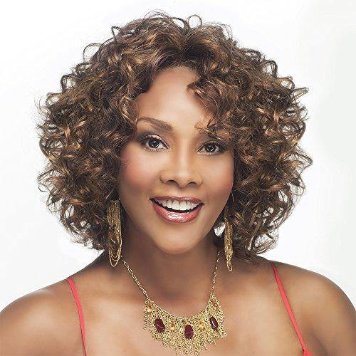 Vivica A. Fox CHILLI-V Synthetic Fiber, Deep Lace Front Wig in Color FS430