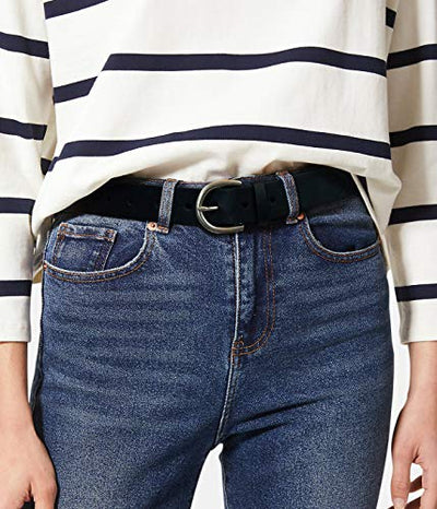 Chaps Women's Simple Minimalist Skinny Jean Belt, black casual, Small