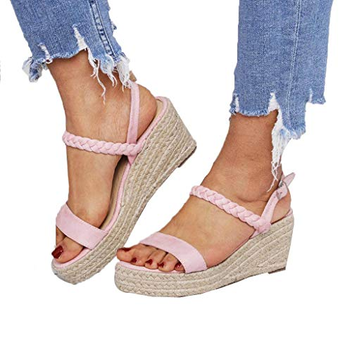 Women's Wedges Platforms Sandals Open Toe Shoes Ankle Strappy Buckle Platforms Strap Sandal
