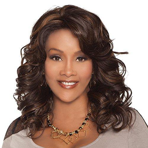 Vivica A. Fox GOLDIE-V New Futura Fiber, Deep Swiss Lace Front Wig in Color FS427