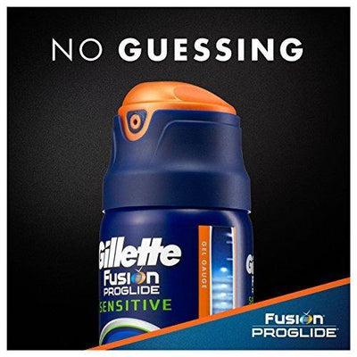 Gillette Fusion ProGlide 2 in 1 Shave Gel, Sensitive, Twin Pack 12 Ounce