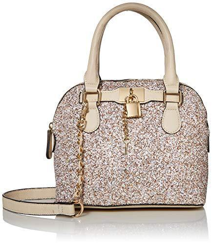 ALDO Women's Barland Satchel Bag, Champagne, One Size US