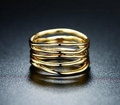 Barzel Gold Plated Statement Ring - Size 10