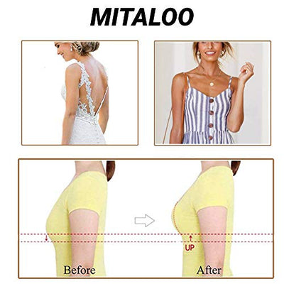 MITALOO Adhesive Bra Invisible Strapless Bra Push Up Backless Sticky Bra for Women Beige