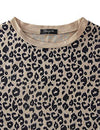 Blooming Jelly Womens Leopard Print Tops Short Sleeve Round Neck Casual T Shirts Tees(M,Leopard 1) - PRTYA