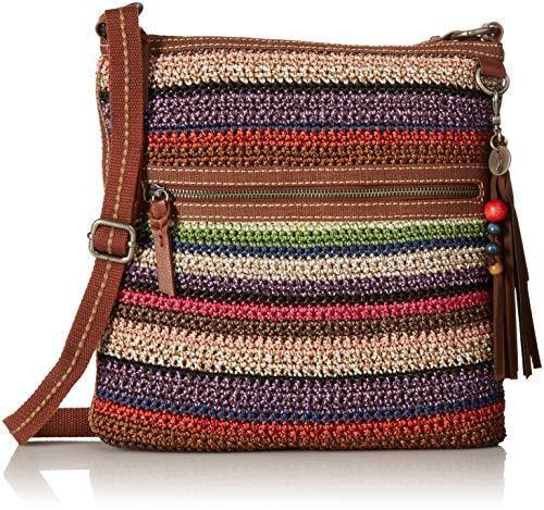 The Sak womens crossbody, Vagabond Stripe, 11in L x 1.5in W x 11in H; Drop: up to 26 inches