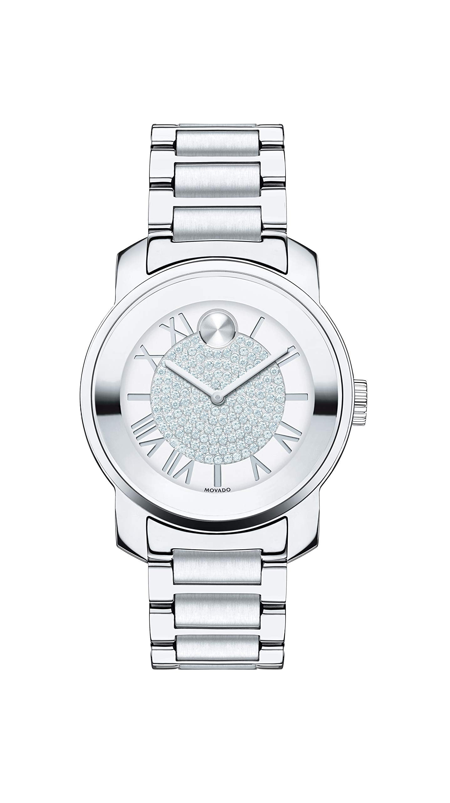 Movado Women's BOLD Luxe Stainless Steel Watch with Roman Index Dial, Silver (Model 3600254)