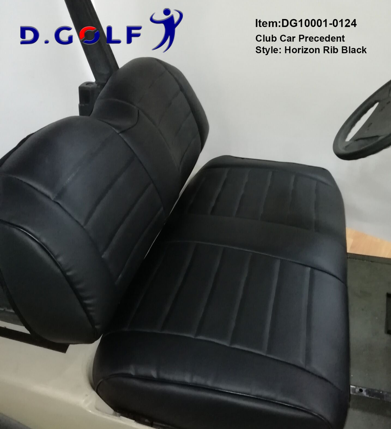 D GOLF Club Car Precedent Luxury Seat Cover Precedent Black