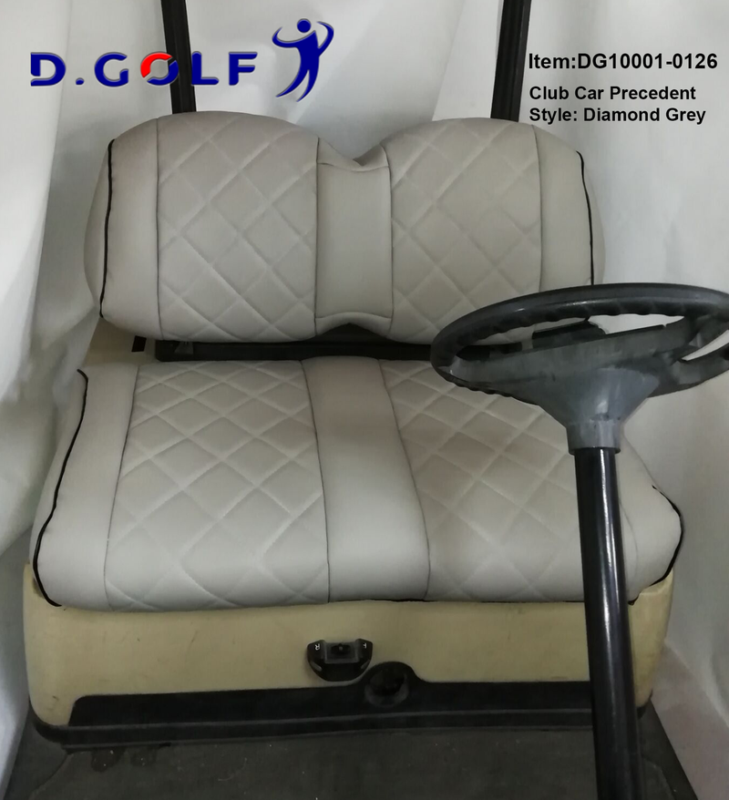 D GOLF Club Car Precedent Luxury Seat Cover Precedent Grey